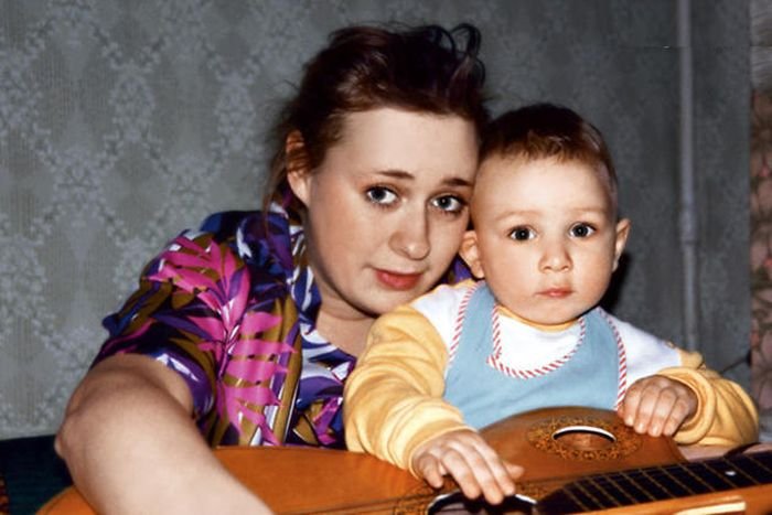 Мария Аронова с сыном. / Фото: www.7days.ru