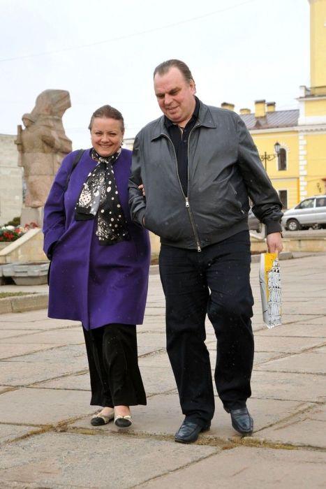 Елена Цыплакова с мужем. / Фото: www.woman.ru