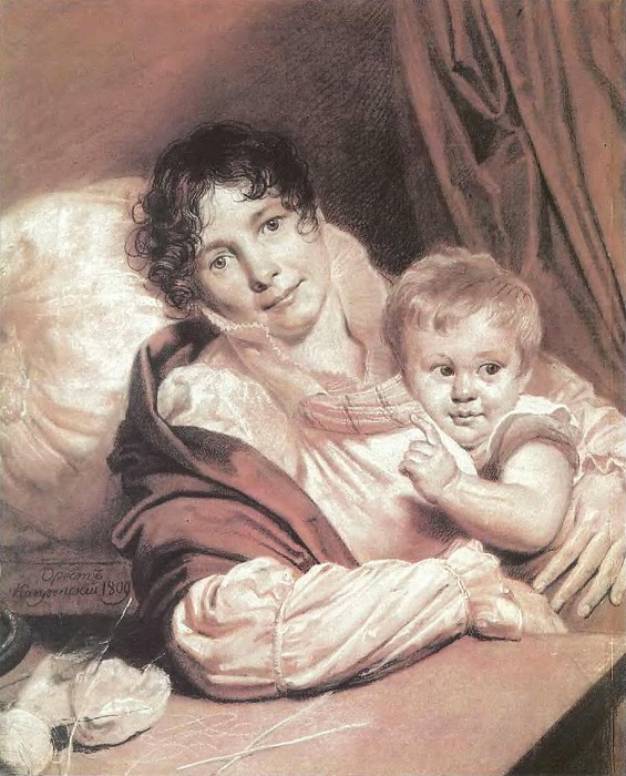 «Мать с ребенком» (Портрет г-жи Прейс), 1809. / Фото: www.liveinternet.ru