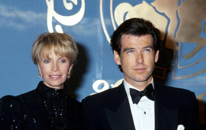 Пирс Броснан и Кассандра Харрис. / Фото: www.blogspot.com