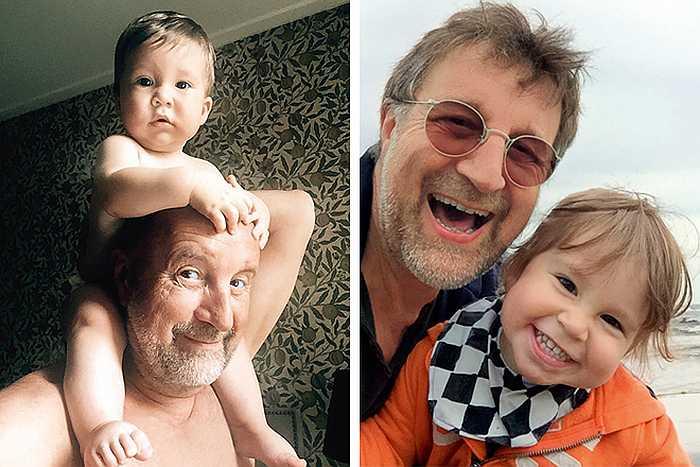 Леонид Ярмольник с внуком Петей. / Фото: www.hit-host.net