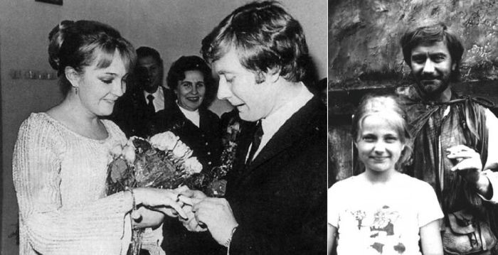 Андрей Миронов с первой женой Екатериной Градовой и с дочерью Марией.
