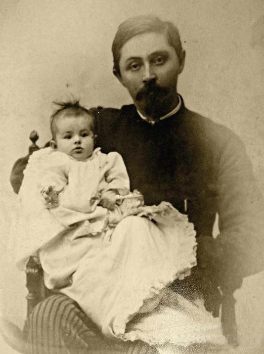 Дмитрий Мамин-Сибиряк с дочерью Аленушкой, 1892 год. / Фото: www.historyntagil.ru