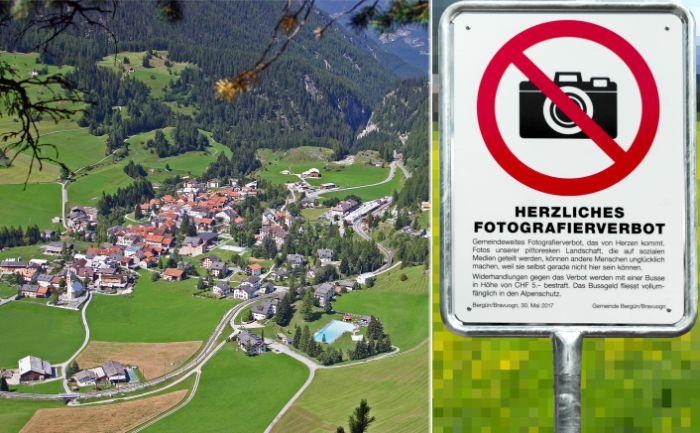 Деревню Бергюн запретили фотографировать.