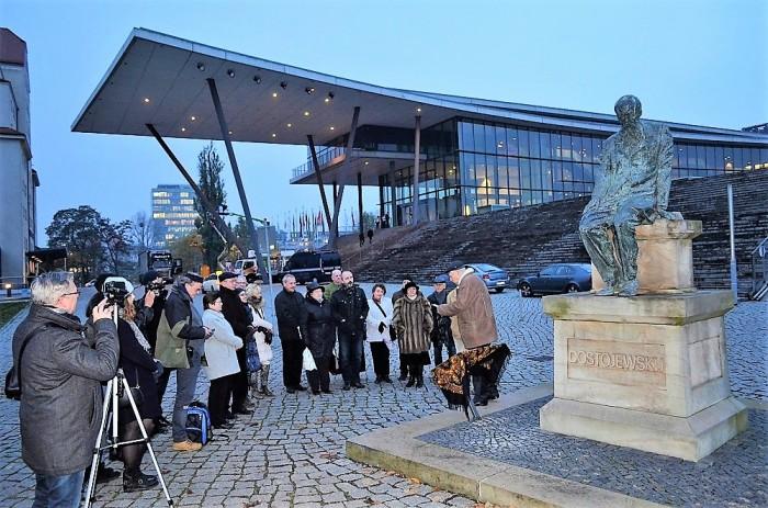 Памятник Фёдору Достоевскому в Дрездене. / Фото: www.russkoepole.de