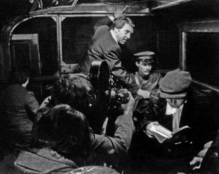 На съёмках фильма «Место встречи изменить нельзя». / Фото: www.yavtanke.org.ua