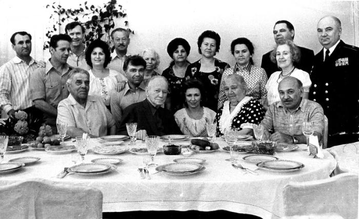 Семья Шолоховых. 1979 г. ст.Вёшенская. / Фото: В.Чумаков, www.sholokhov.ru
