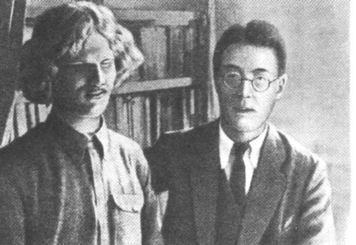 Василий Яковлевич Ерошенко и Фукуока Сеити (Япония). / Фото: www.liveinternet.ru