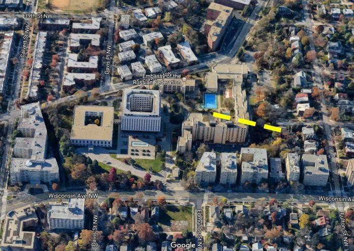 Примерное расположение так и не построенного тоннеля. / Фото: www.atlasobscura.com