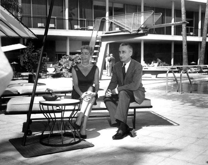 Жак-Ив и Симона Кусто, 1955 год. / Фото: www.i.f1g.fr
