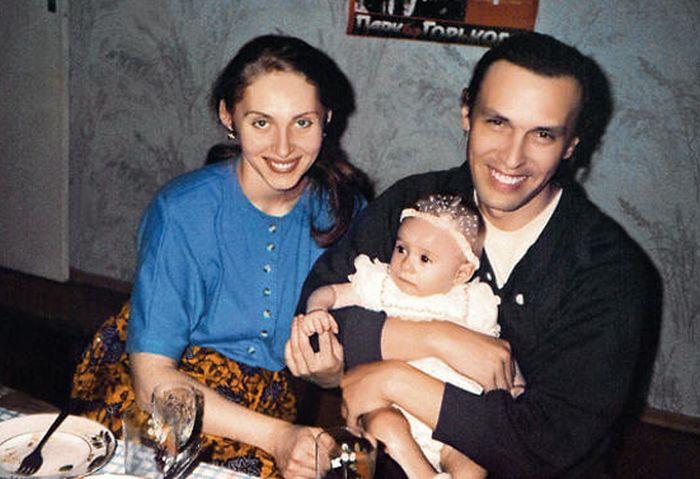 Николай и Марина Носковы с дочерью Катей. / Фото: www.7days.ru