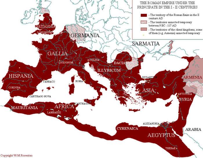 Римская империя. / Фото: www.legko.com