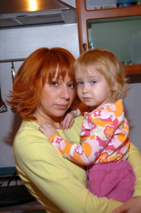 Алёна Апина с дочкой. / Фото: www.woman.ru