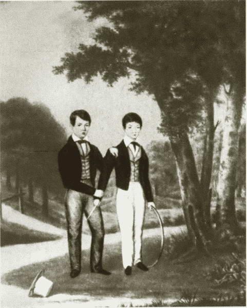 Жюль Верн с младшим братом Полем на даче в Шантене. / Фото: www.biography.wikireading.ru