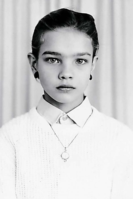 Наталья Водянова в детстве. / Фото: www.dratyti.info