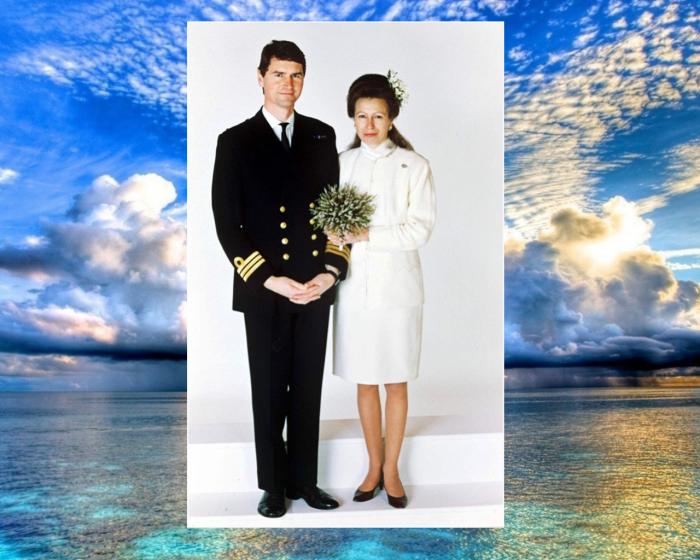 Принцесса Анна и Тимоти Лоренс.