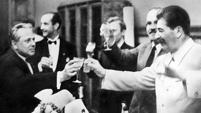 И.В. Сталин на банкете. / Фото: www.tsargrad.tv