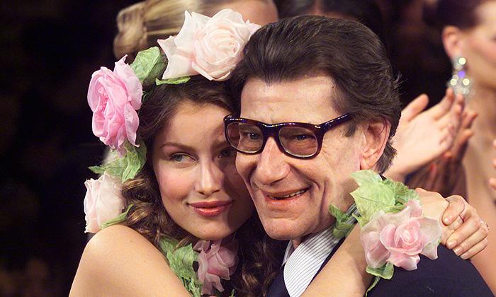 Ив Сен Лоран и Летиция Каста. / Фото: www.interfax.ru