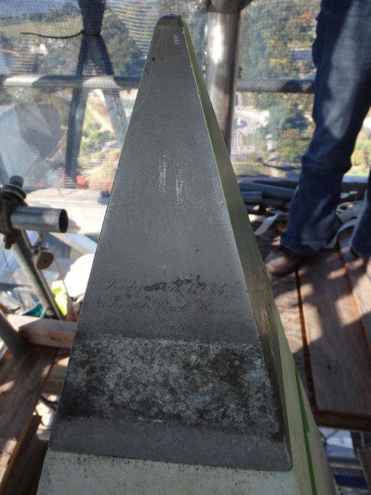 Алюминиевый пирамидион на вершине монумента Вашингтону. / Фото: www.internapcdn.net