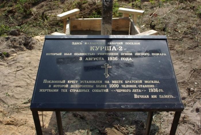 Поклонный крест в Курша-2. / Фото: www.life.ru