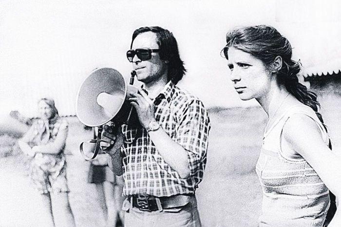 Вера Глаголева и Родион Нахапетов на съемках. / Фото: www.7days.ru