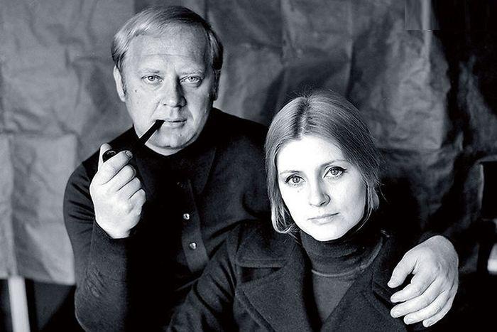 Евгения Уралова и Юрий Визбор. / Фото: www.mediasubs.ru