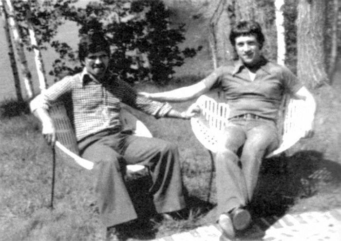 Бабек Серуш и Владимир Высоцкий в Канаде. Фото Джорджа Диматоса (на фотоаппарат Бабека Серуша), октябрь 1976 года. / Фото: www.goldenvargan.gallery.ru