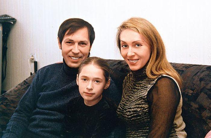 Николай и Марина Носковы с дочерью Катей. / Фото: www.woman.ru