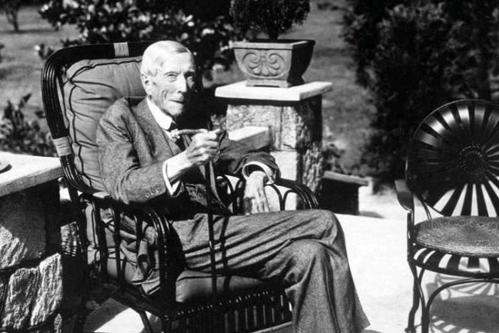 Рокфеллер в особняке Кейсментс, Ормонд Бич, Флорида, фото, 1937 г. / Фото: www.kapriz.club