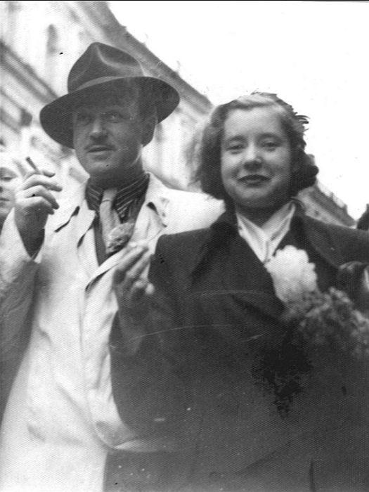 Ефим Копелян и Людмила Макарова, 1940-е - 1950-е годы. / Фото: www.bdt.spb.ru