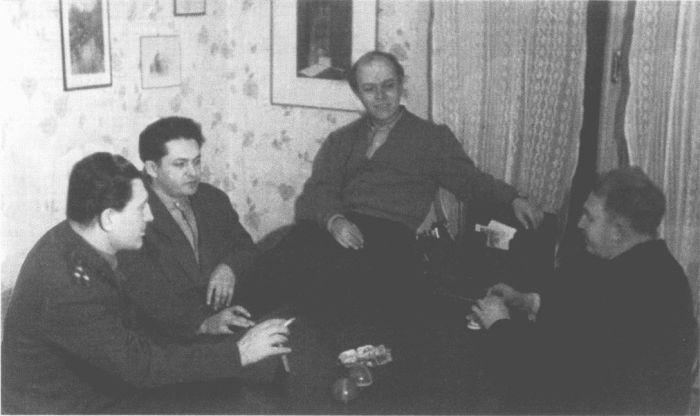 П. Горелик, И. Крамов, Д. Самойлов, Б. Слуцкий. 1965 г. / Фото: www.rubooks.org