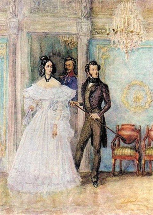 Устинов Е.А. «Пушкин и Натали». / Фото: www.twimg.com