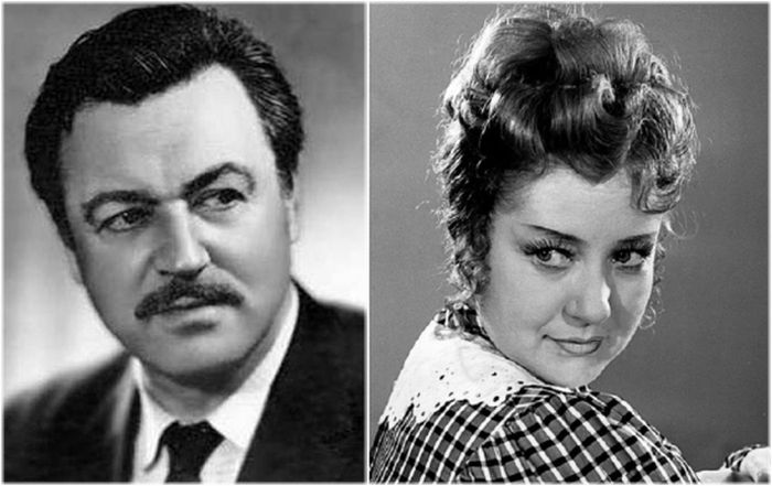 Ефим Копелян и Людмила Макарова.