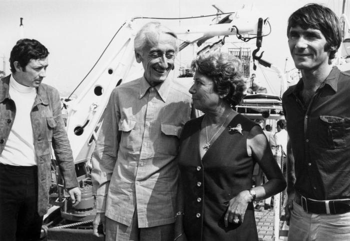 Жак-Ив Кусто и его жена, Симона, на борту «Калипсо». Монако, 16 сентября 1970 года. / Фото: www.madame.lefigaro.fr