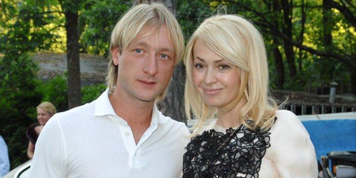 Яна Рудковская и Евгений Плющенко. / Фото: www.vladtime.ru