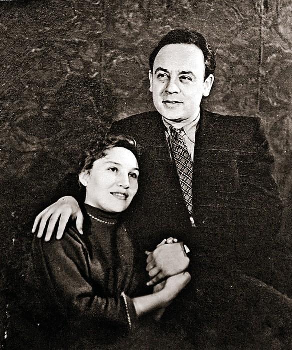 Леонид Броневой с первой женой, Валентиной Блиновой. / Фото: www.kpcdn.net
