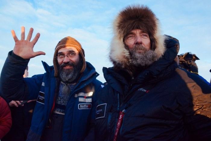 Фёдор Конюхов и Иван Меняйло после приземления. / Фото: www.gtrk-saratov.ru