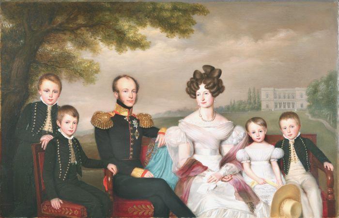 Наследный принц Оранский с женой и детьми. Я.-Б. ван дер Хульст, 1832 г. / Фото: www.dutchreview.com