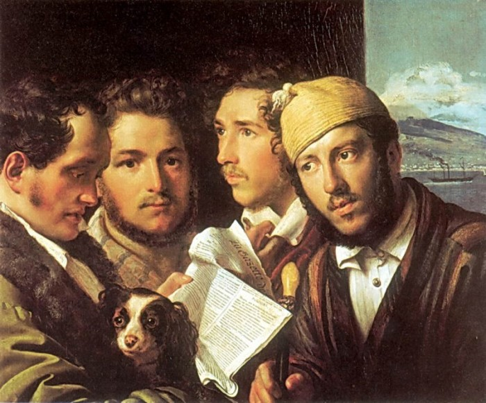 Орест Кипренский. «Читатели газет в Неаполе», 1831. / Фото: www.liveinternet.ru