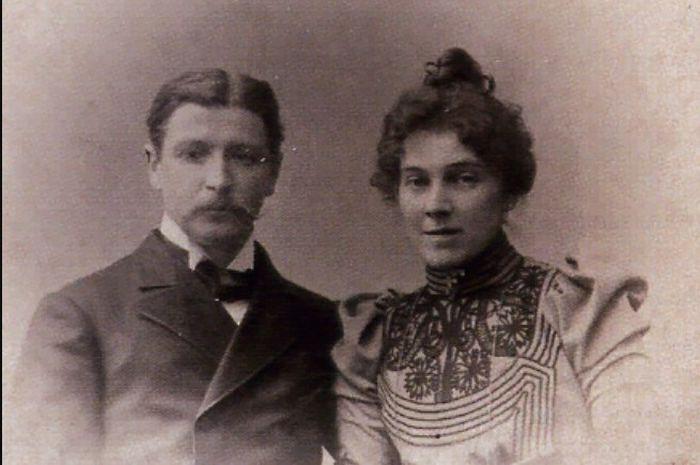 Михаил Врубель с женой. / Фото: www.wikimedia.org