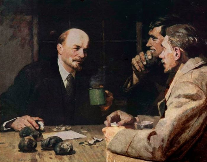 Ленин у путиловских рабочих. Автор: Белов Ю. / Фото: www.history.sgu.ru