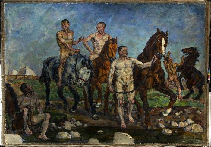 «Купание красной конницы», 1928 г. / Фото: www.20art.ru