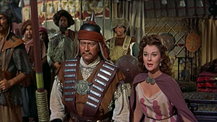 Кадр из фильма «Завоеватель», 1956 год. / Фото: www.tmdb.org