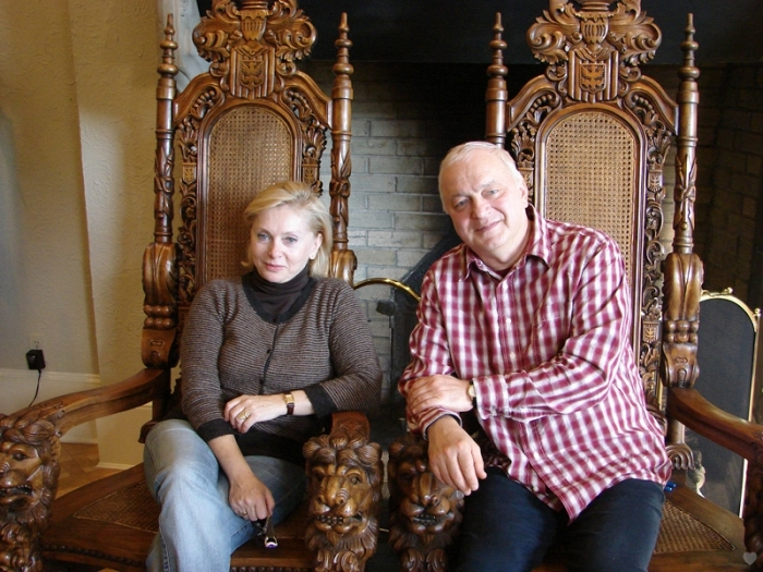 Татьяна и Сергей в гостях во Флориде. / Фото: www.sergeytatiananikitiny.com