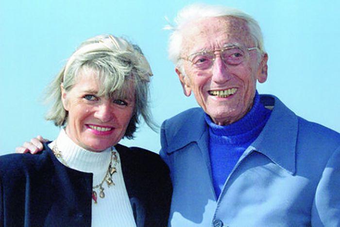 Жак-Ив Кусто и Франсина Триплет. / Фото: www.blogspot.com