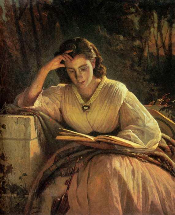 За чтением. Портрет Софьи Николаевны Крамской. / Фото: www.wmuseum.ru