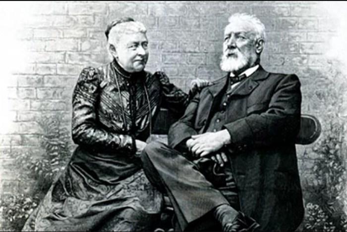 Жюль Верн с женой. / Фото: www.24smi.org