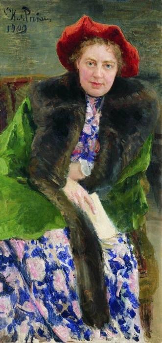 Портрет Натальи Борисовны Нордман-Северовой, Илья Ефимович Репин 1909. / Фото: www.livejournal.com