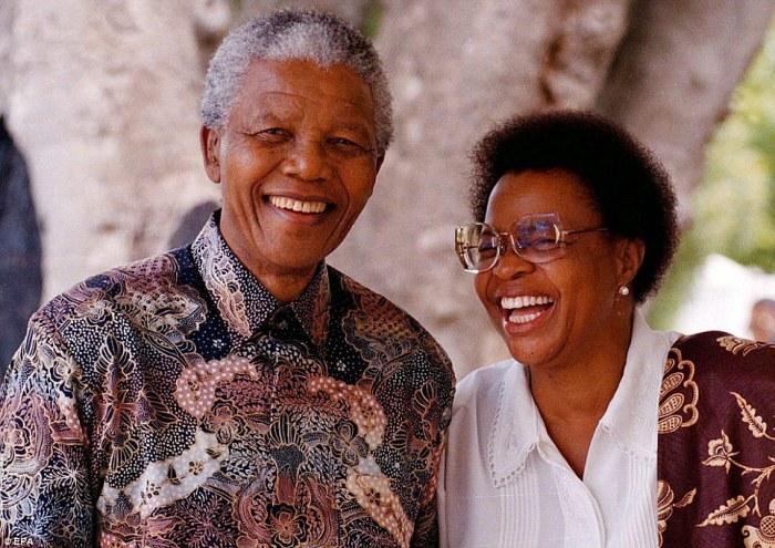 Нельсон Мандела и Граса Симбине. / Фото: www.dailymail.co.uk
