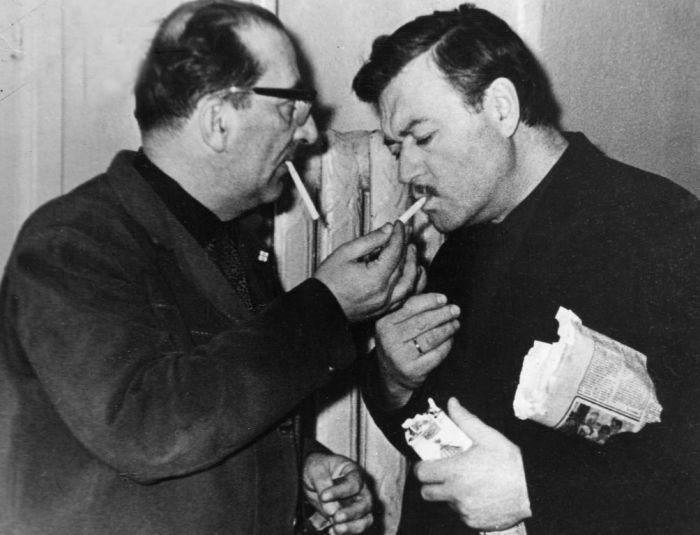 Ефим Копелян и Георгий Товстоногов. / Фото: www.bdt.spb.ru